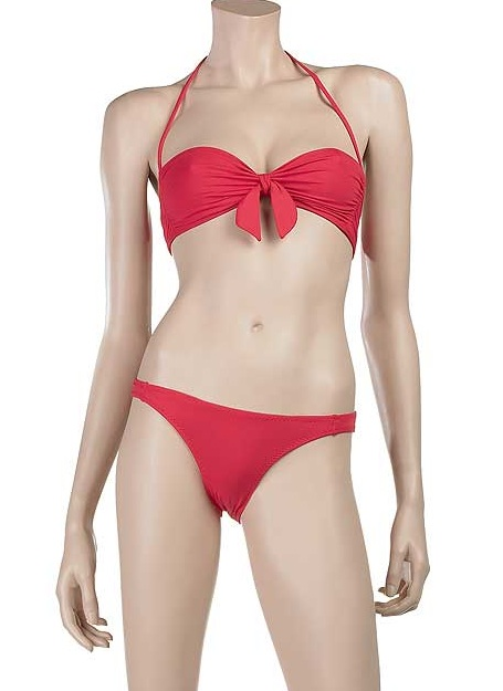 Fabworthy: Melissa Obadash Red Elle Bikini