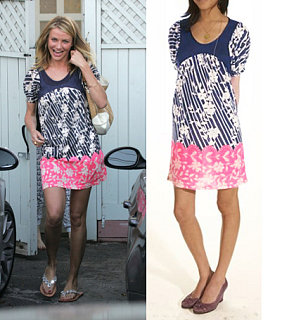 Found! Cameron Diaz's Pink and Blue Floral Dress