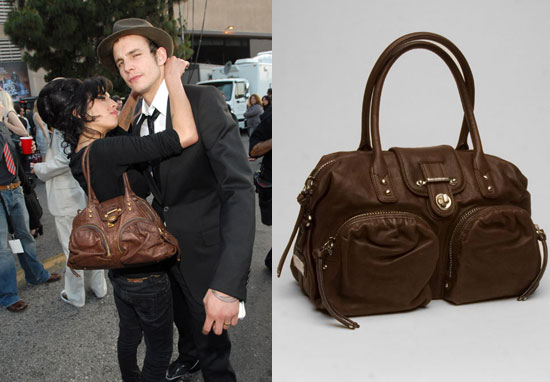 Found! Amy Winehouse's Brown Leather Bag