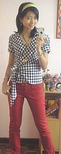 Look of the Day: Checkered Chick