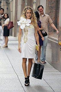 SATC Movie Sneak Peek! Carrie's Flower Power Dress: Love It or Hate It?