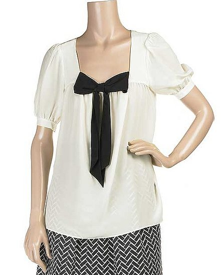 The Look For Less: Tibi Bow Detail Blouse