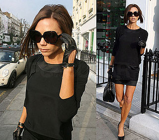 Victoria Beckham in What Goes Around Comes Around black dress