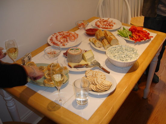 The appetizer table.