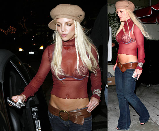 Britney Makes Another Fashion Misstep, But At Least She's Got a Bra!