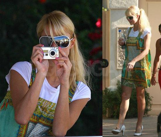 Paris Plays Photographer in LA