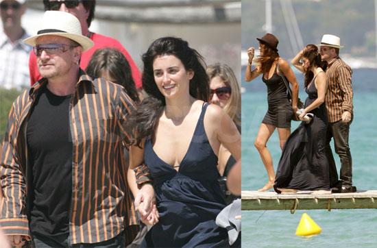 Bono, Penelope and Helena Try Their Sea Legs