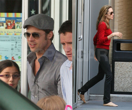 Brad & Angelina Go About Their Business