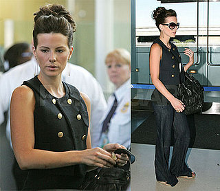 Kate Beckinsale Flies Solo