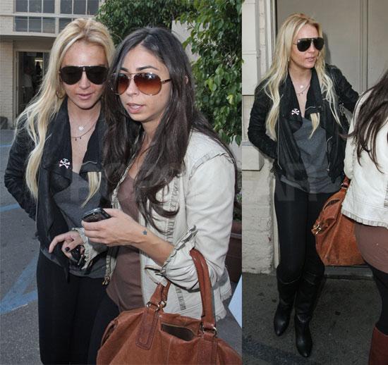 Lindsay Lohan and Courtenay Semel at La Scala
