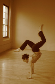 Strike a Yoga Pose:  Handstand Trick