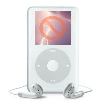 iPod + Electrical Storm = Danger