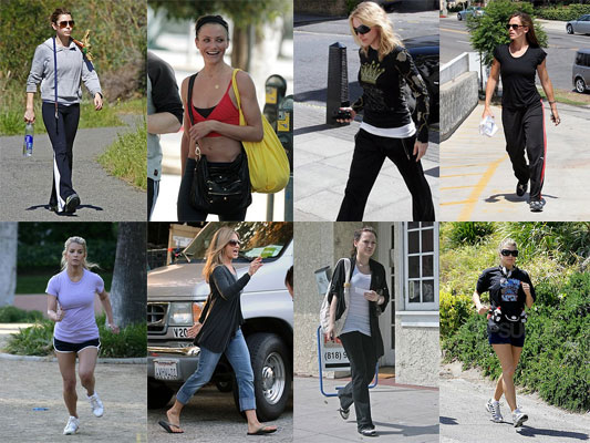 Female celebrity fitness products