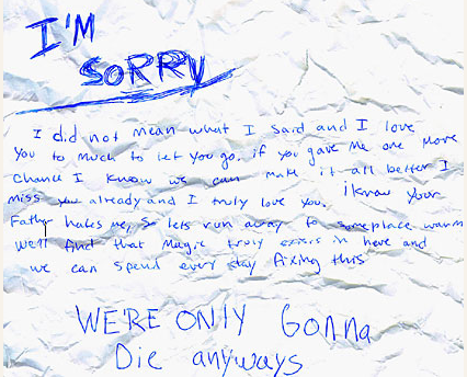 Found An Apology Letter