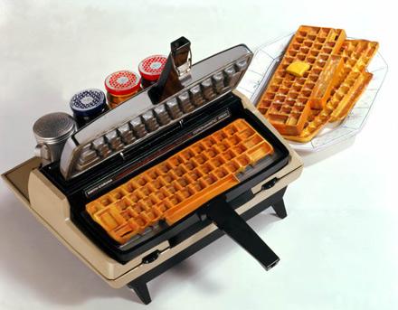 Yummy Link: Keyboard Waffle Maker