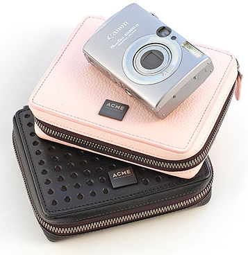 The Leather Traveler Camera Case from ACME