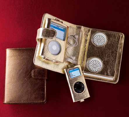 Metallic Gold iPod Case With Speakers: Love or Leave?