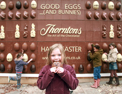 Chocolate Billboard Disappears Fast