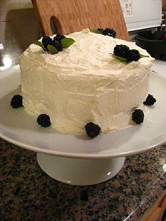 52 Weeks of Baking: Fresh Lime Chiffon Cake with Strawberries & Blackberries