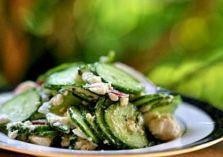 Yummy Link: Cucumber Salad with Mint and Feta