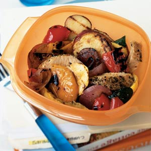 Monday's Leftovers: Pork and Grilled Veggie Salad