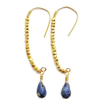 demilune gold drop earrings