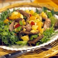 Fast & Easy Dinner: Flank Steak Salad with Pineapple Salsa