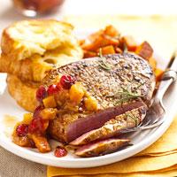 Fast & Easy Dinner: Steak with Sweet Potato-Mango Chutney