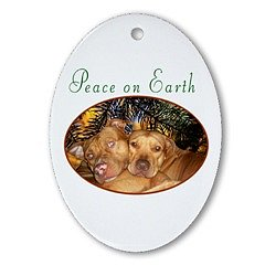 Peace on Earth Ornament (Oval)