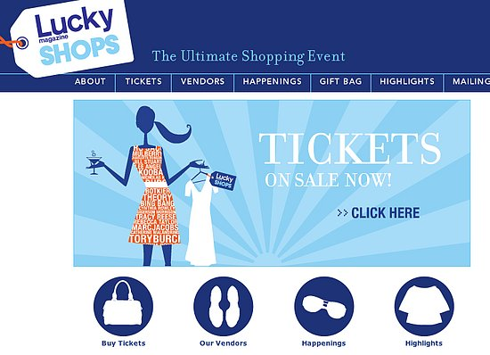 Sale Event: Lucky Magazine Shops