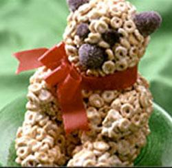 Delilicious: Teddy Bear Cereal Sculpture