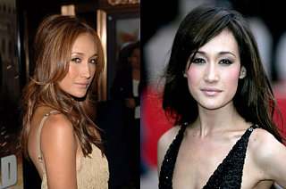 Which Hair Color Suits Maggie Q Better?