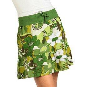 TROPICAL PRINTS: Beach Wave Hawaiian Paradise Knit Skirt