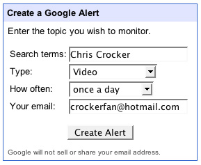 Geek Tip: Get Google Alerts For Videos