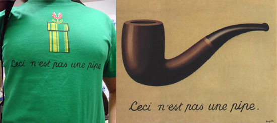 Ceci N'est Pas Une Pipe Tee: Geeky or Chic?