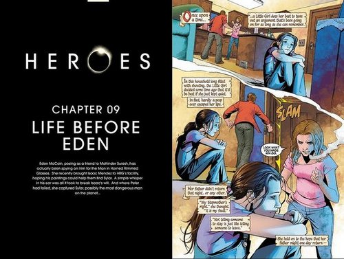HEROES Graphic novel Chapter Nine: Life before Eden.