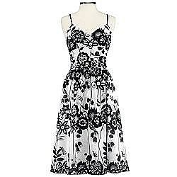 Cheap Chic - Black & White Print - JCPenney: Bisou Bisou printed slip dress | TEAMSUGAR