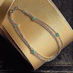 Gift for Her:: RedEnvelope - triple-strand birthstone bracelet