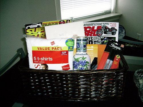 Gift Basket for the Boyfriend