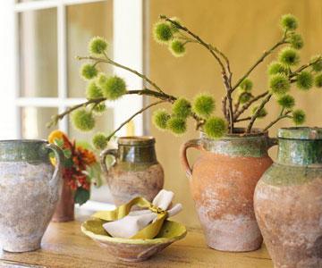 Simple Style:  Fall Olive Jar Arrangement