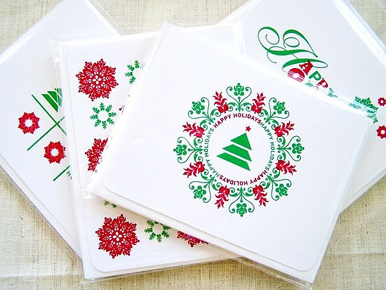 Holiday Card Guide: 3P-3 Happy Holiday Card Set