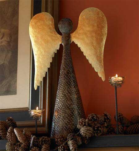 Deck the Haus:  Oil Drum Angel