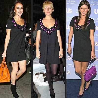 Fashion Faceoff: Lindsay Lohan vs. Sienna Miller vs. Nicky Hilton