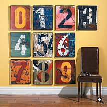 Number This Wall Prints - Grandin Road
