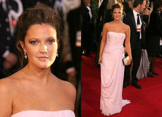 The Golden Globes Red Carpet: Drew Barrymore