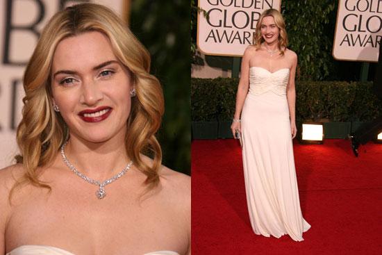 The Golden Globes Red Carpet: Kate Winslet