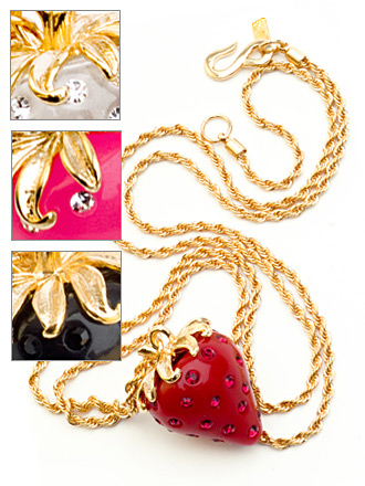 The Look for Less: Kenneth Jay Lane Strawberry Pendant