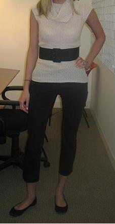 Look of the Day: Skinny Black Pants for Work