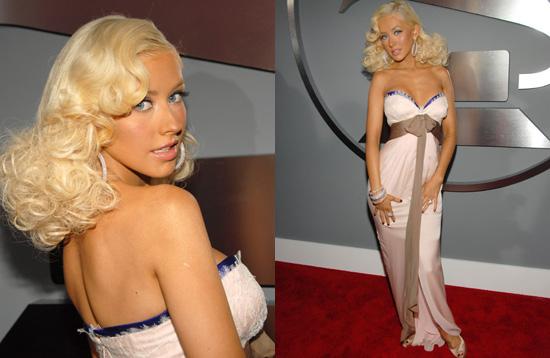 The Grammys Red Carpet: Christina Aguilera