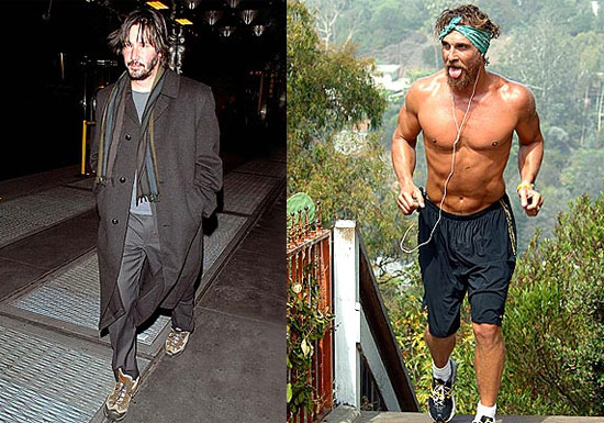 who looks worse keanu or matthew popsugar celebrity